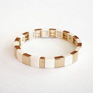 Roxanne Assoulin Stretch Bracelet Gold/Ivory